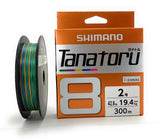 Shimano Tanatoru 8 Multicolor 300m Braided PE Fishing Line PL-F78R
