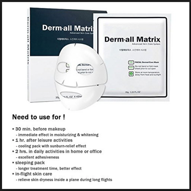 dermal matrix face mask (4ea)