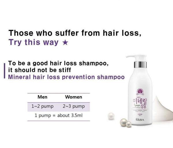 Miba  Hair Loss Prevention & Hair Strengthening Mineral Shampoo