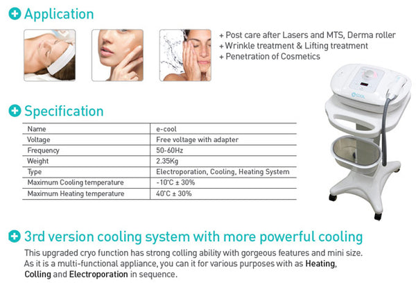 E Cool-Cryo Therapy Bodycare system
