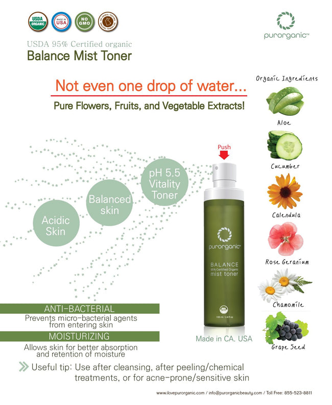 BALANCE Mist Toner 100ml(3.4floz) Made in USA