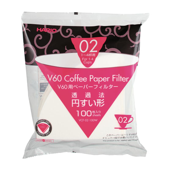 Hario V60 Coffee Dripper Filter Paper White
