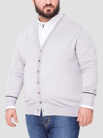 Cardigan Con Bottoni - art. MP 82 - (taglie forti uomo dalla 3XL alla 9XL)