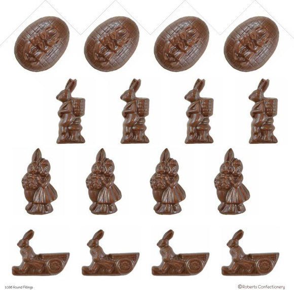 Easter Rabbits Chocolate Mould