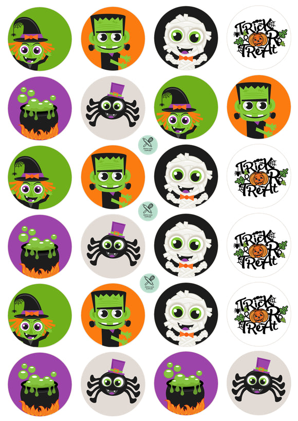 Halloween Edible Image Cupcake Topper