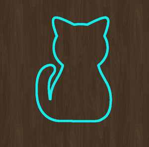 Sitting Cat Cookie Cutter