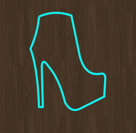 Ankle Boot High Heel Stiletto Cookie Cutter