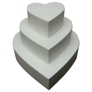 "Styrofoam Cake Dummies Heart 6"" Tall"