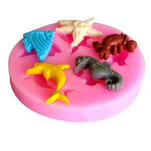 Dolphin Crab Seahorse Angel Fish Silicone Mould Perth Cake Supplies