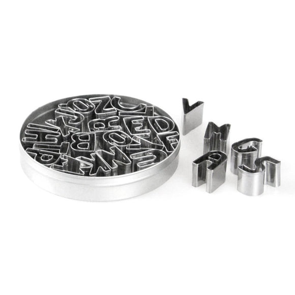 Alphabet Stainless Steel Cookie Cutter Set of 26