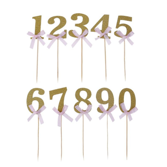Glitter Number Cake Toppers