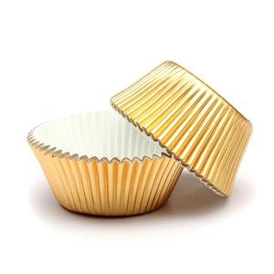 Gold Cupcake Patty Pan Cases 100pk