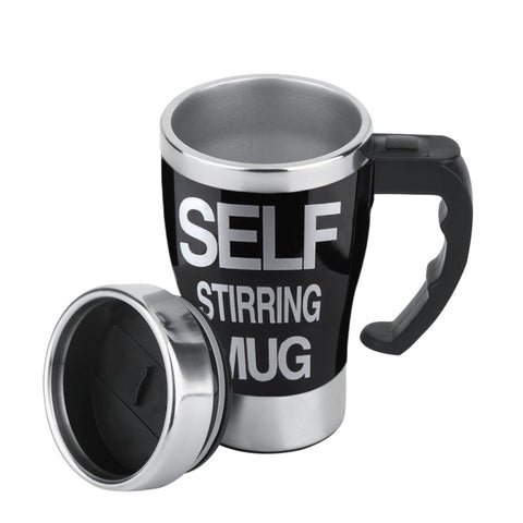 Superior Quality 1Pc Stainless Lazy Self Stirring Mug Auto Mixing Tea Coffee Cup