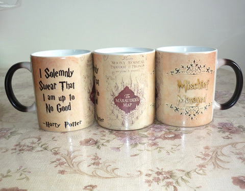 New Marauder's Map Mug Mischief Managed Mug I Solemnly Swear That I Am Up To No Good Coffee Cup