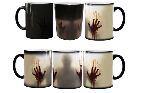 The Walking Dead Mugs Heat Changing Color Tea Mugen Heat Reveal Zombie Mugs Daryl Dixon Ceramic Coffee Mug
