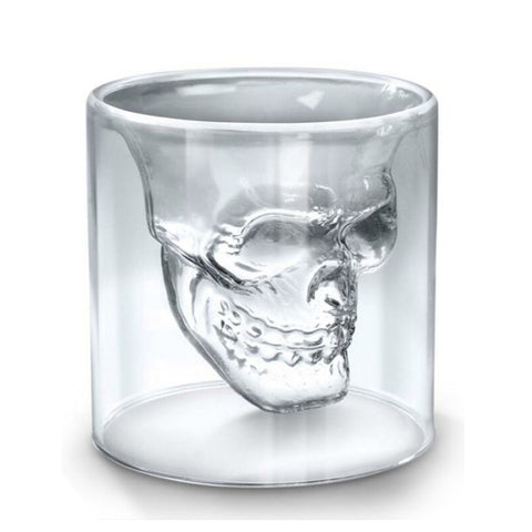 25/75/150/250ml Creative Designer Wine Glass Cup Skull Head Shot Glass Fun Doomed Magic Transparent Party Doom Drinkware Gift
