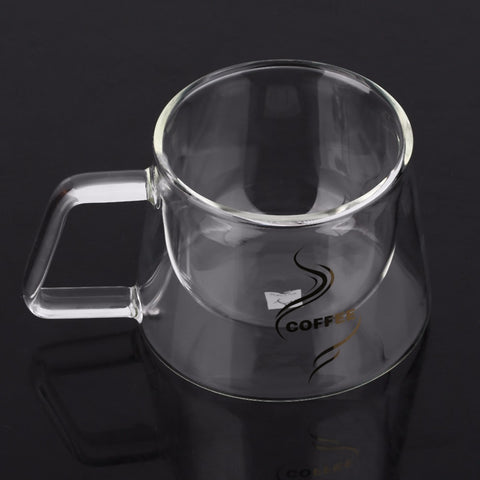 Double Layer Glass Coffee Mug Cup Borosilicate Glass Water Bottle Chinese Tea Fashion Design
