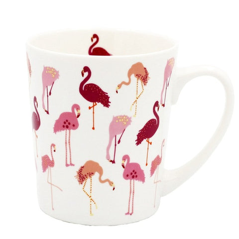 Cartoon Ceramic Heat-Resistant Fantasy Girl Heart Pink Flamingo Mug Breakfast Theme Party Decorative Cup Office Mug