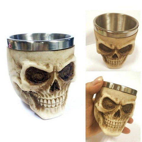 Skull Tankard 3D Coffee Mug Beer Cup Mug Scary Drinking Cup Halloween Festival Halloween Decorations