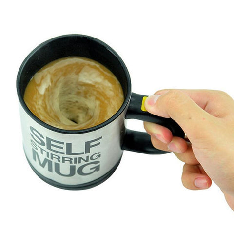 5 Colors Lazy Tazas Self Stirring Mug Coffee Cup Smart Stainless Steel Mugs Copos Inox Tea Cup