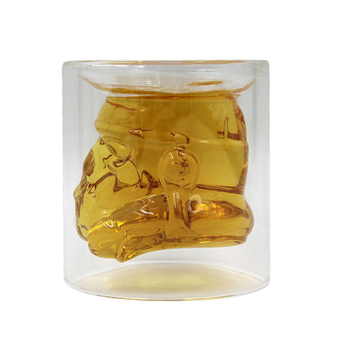 150ml Cool Star Wars Stormtrooper Beer Wine Whiskey Water Glass Bottle Crystal Shot Double Layer Coffee Tea Glass Mug Drinkware