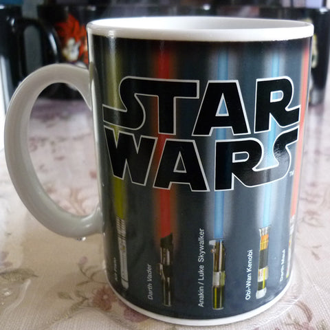 Star Wars Mug Lightsaber Heat Reveal Mug Color Change Coffee Sensitive Ceramic Mug