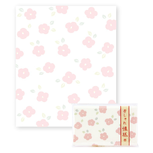 Japanese lovely seasonal flowers designed paper - Tsubaki 椿