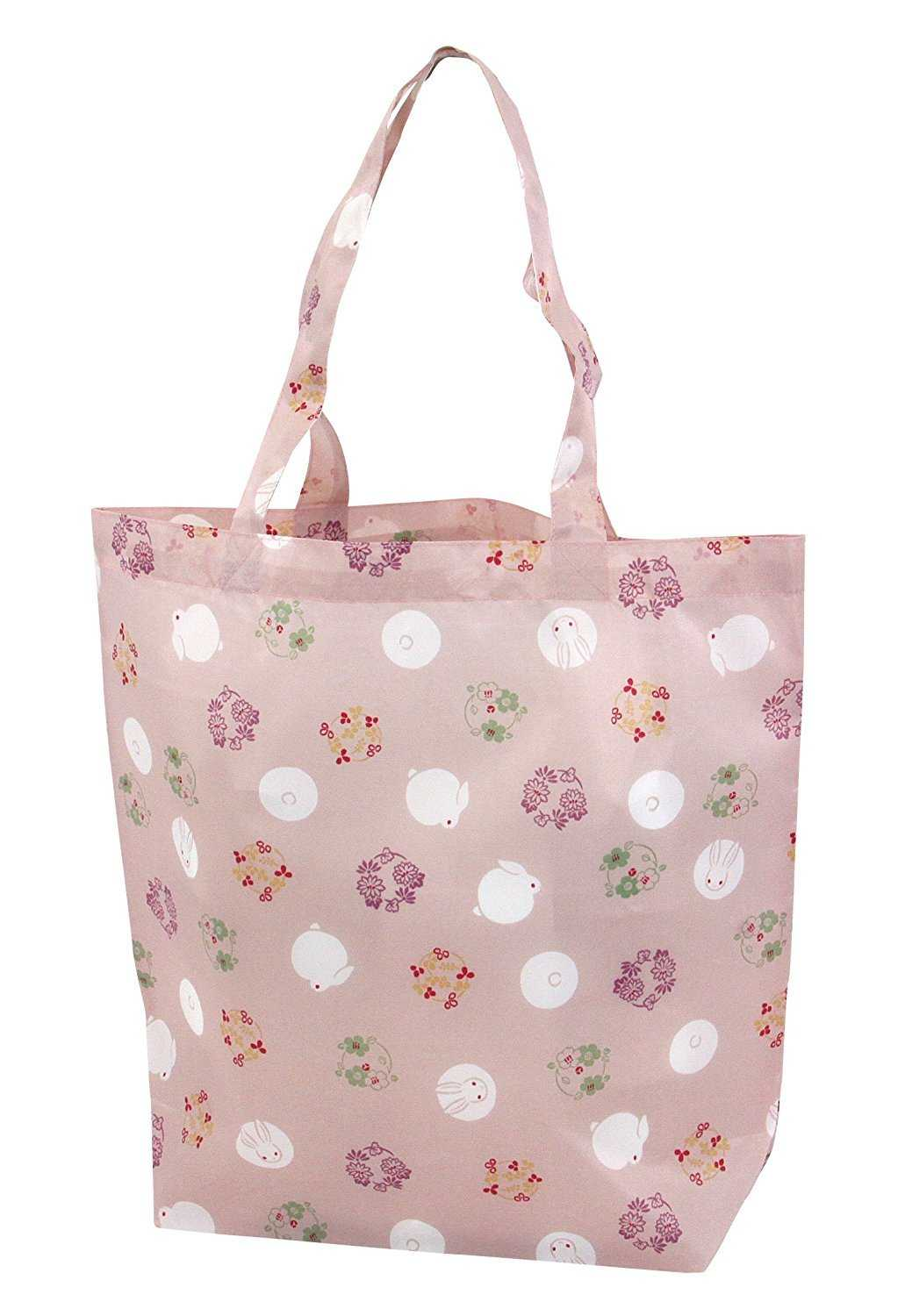 Japanese Eco-bag Usagi Hanamarumon (Rabbit and Flower)
