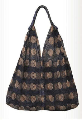Mesh Bag - Small Triangular - Circles in Midnight