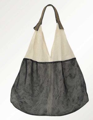 Mesh Bag - Small Triangular - Cream