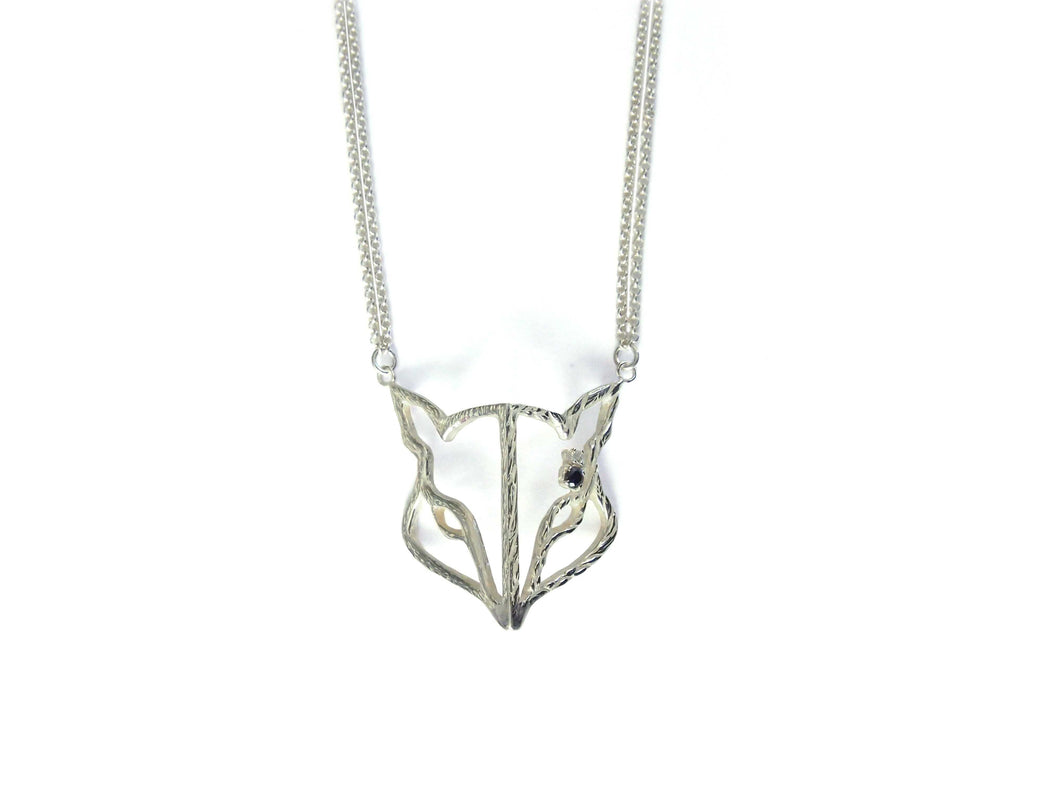 (A)symmetric Openwork Kitsune Necklace