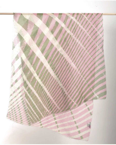 Large Exotic Scarf 1942 - Pink