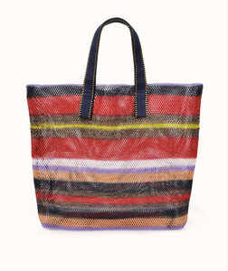 Mesh Hand Bag - Small - Rouge Striped