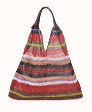 Mesh Bag - Triangular - Rouge Striped