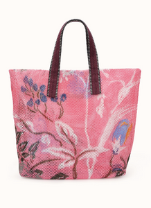 Mesh Hand Bag - Small - Pink Floral