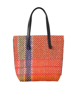 Small Checkered Tote Bag - Calypso
