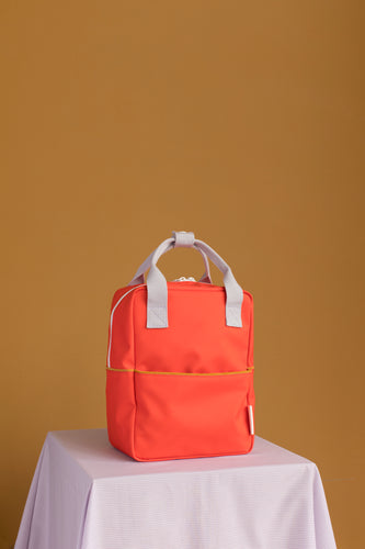 Sticky Lemon Small Backpack Corduroy - Sporty Red