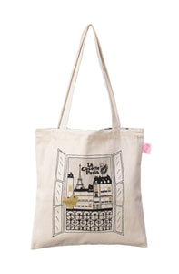Tote bag Vue sur Paris reversible Allover Paris
