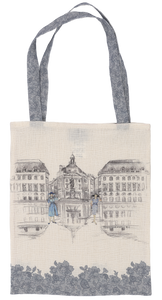 French Collection Tote Bag - Place Jeanne d'Arc Paris / Lace Effect