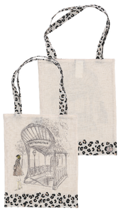 French Collection Tote Bag - Paris Metro / Leopard