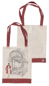 French Collection Tote bag - Paris Metro / Red Spots