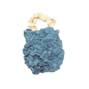 KUSHA - CRUMPLED TOTE - BLUE GRAY