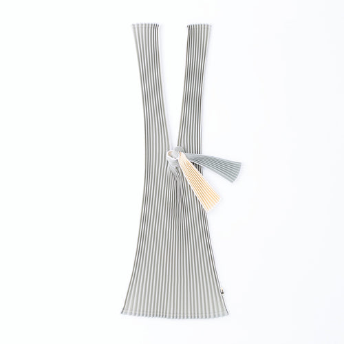 TATE-PLEATS LARGE - SILVER / BEIGE