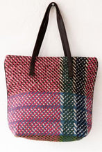 Small Checkered Tote Bag - Rose