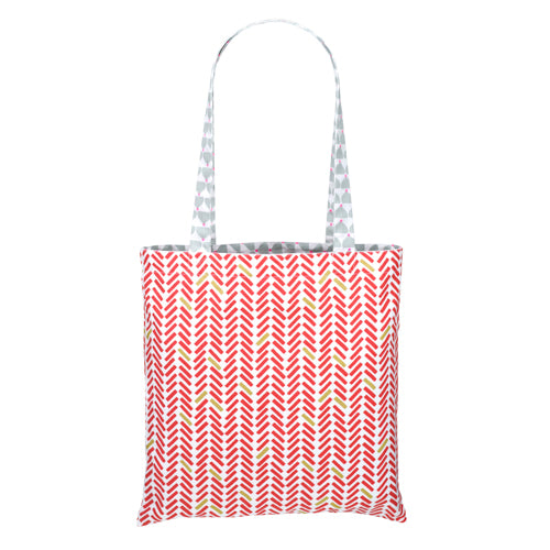 Reversible Chic Chick grey tote bag