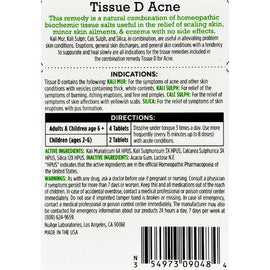 Hyland's Tissue D Acne - 125 Tablets