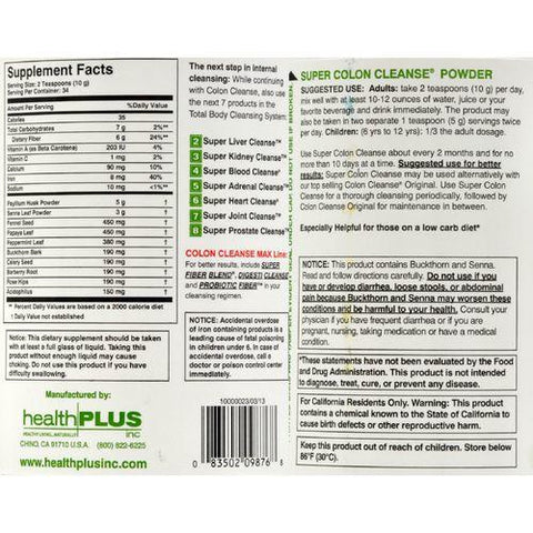 Health Plus Super Colon Cleanse - 12 oz