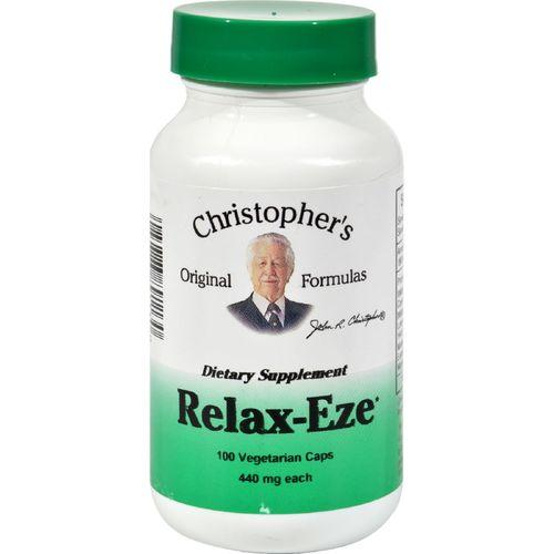 Dr. Christopher's Formulas Christopher's Original Formulas, Relax-Eze, 440 mg Each, 100 Veggie Caps - 100 Vcaps