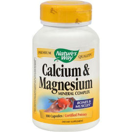 Nature's Way Calcium and Magnesium Mineral Complex - 100 Capsules