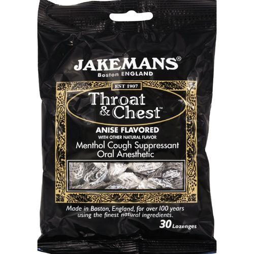 Jakemans Throat and Chest Lozenges - Licorice Menthol - Case of 12 - 30 Pack